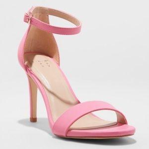 A New Day Pink Myla Stiletto Ankle Sandal Heel 9